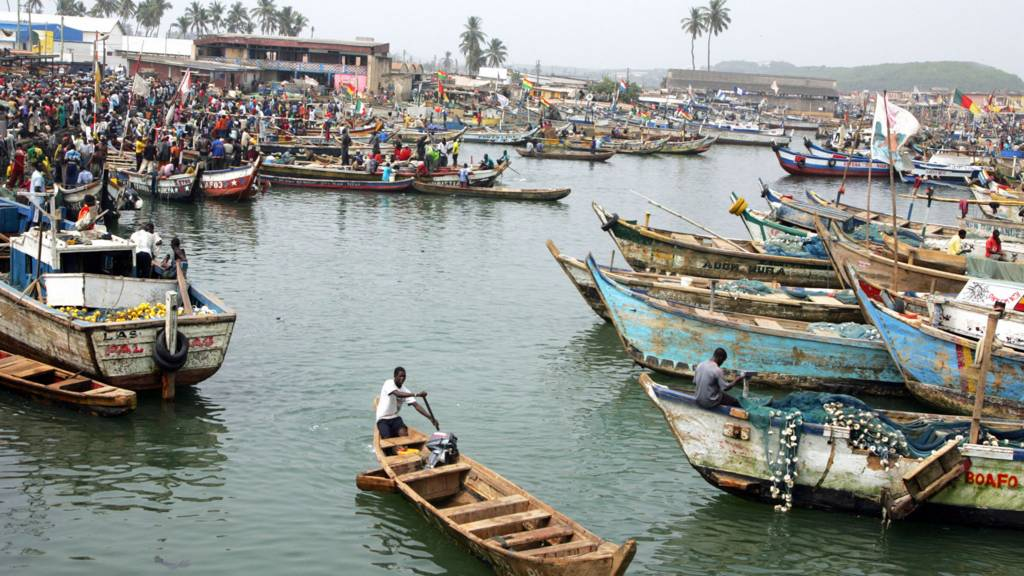 A fishing harbour in Ghana