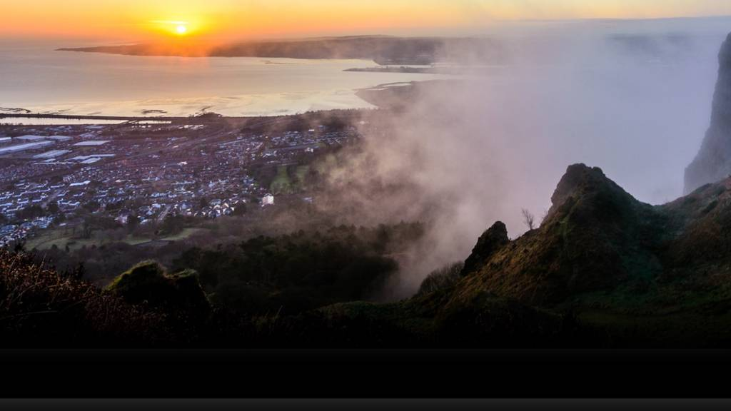 Dawn over Cavehill