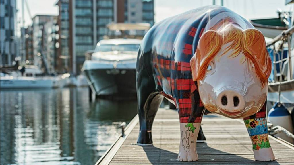 Ed Sheer Ham sculpture