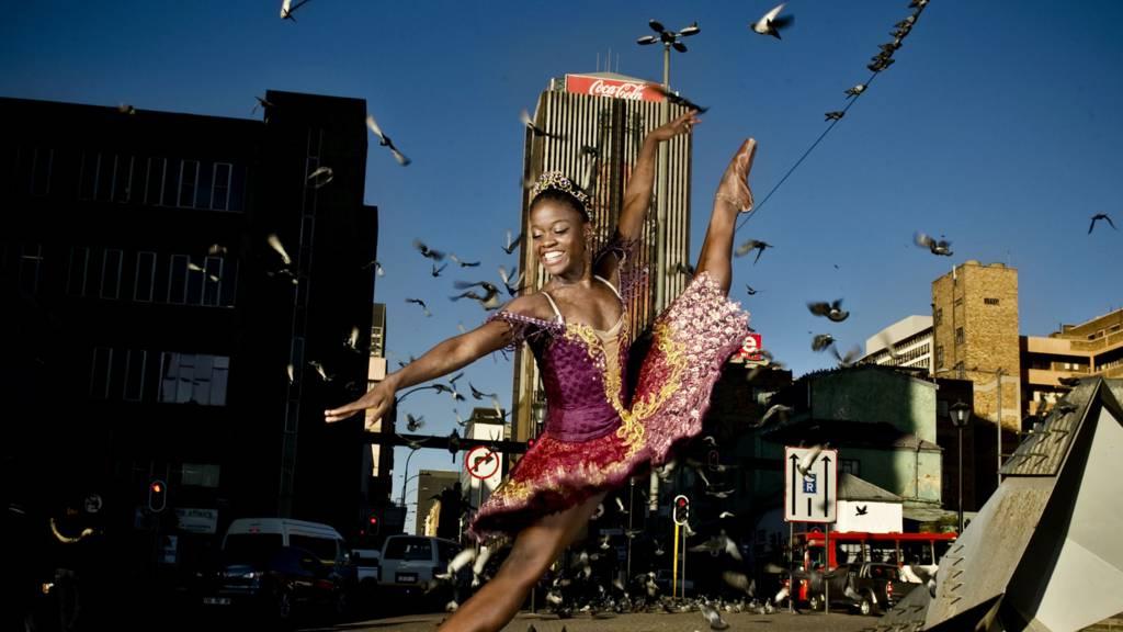 Ballet dancer Michaela DePrince poses in Johannesburg, South Africa