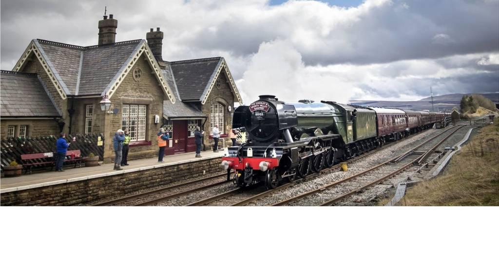 Flying Scotsman on Settle-to-Carlisle line