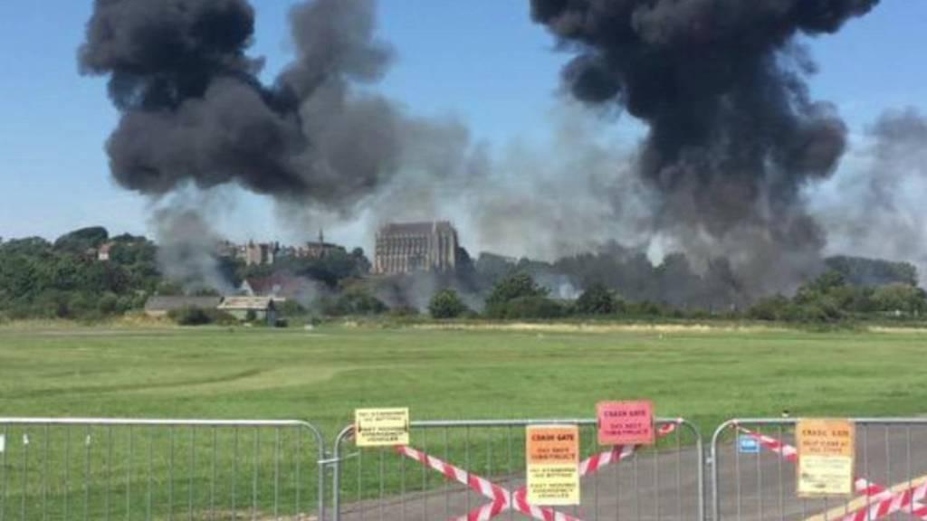 Scene of crash in Shoreham