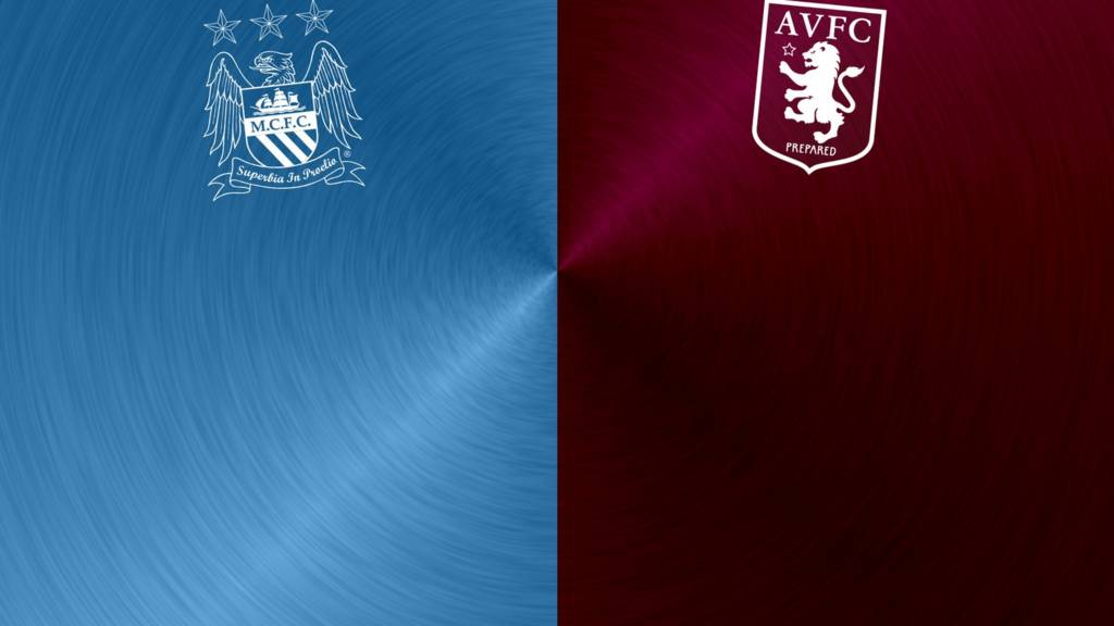 Manchester City v Aston Villa badges