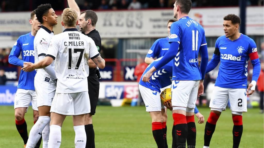 scottish premiership reaction as 10 man dundee hold gerrard s