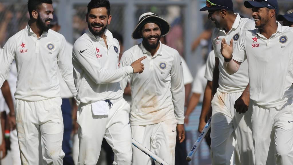 India's players celebrate