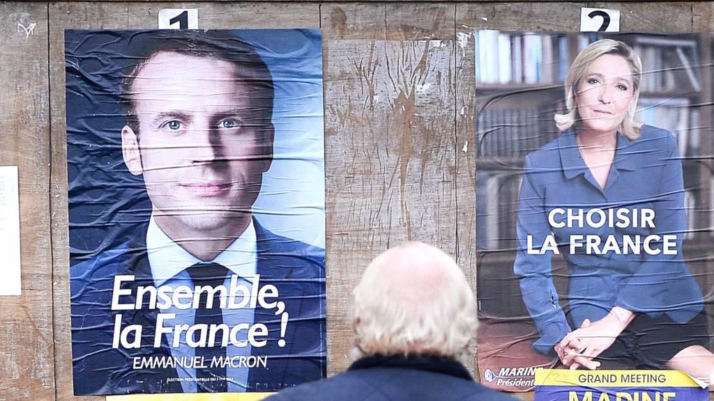 M. Macron est arrivé premier au 1er tour avec 24,01% suivi de sa rivale Marine Le Pen a eu 21,30%