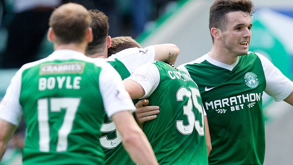 Hibs take on Dundee United at Easter Road