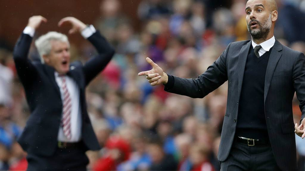 Guardiola and Hughes