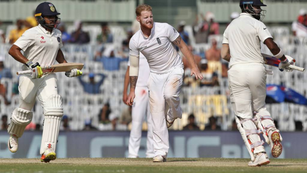 England's Ben Stokes looks frustrated
