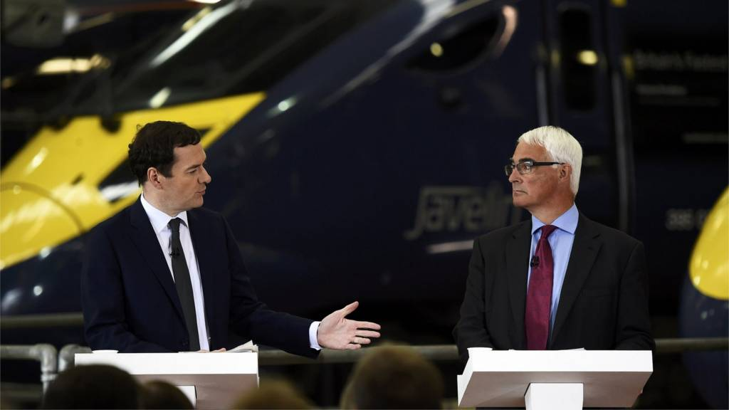 George Osborne and Alistair Darling