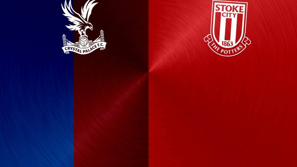 Crystal Palace v Stoke badges