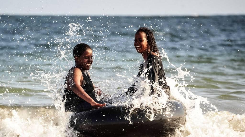 Somali children on a beach in Mogadisu