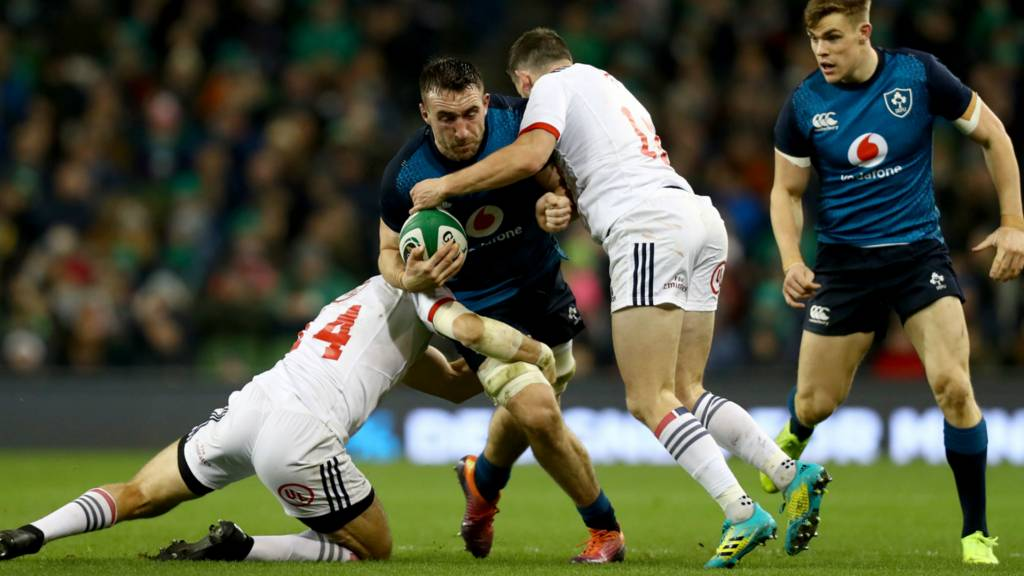 Jack Conan is tackled