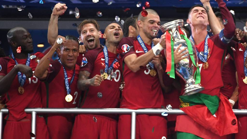 Portugal lift the trophy