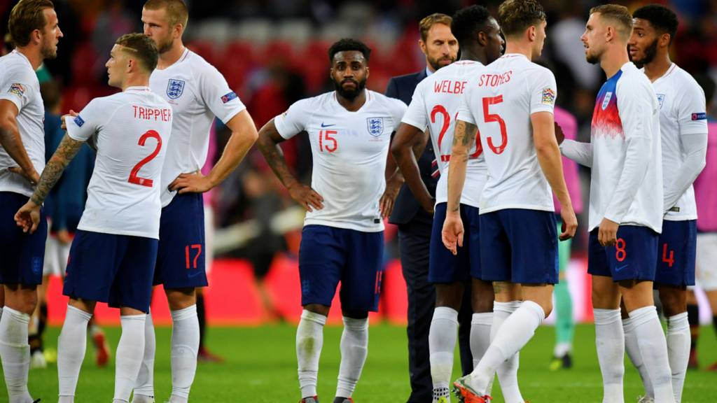 England react at full-time