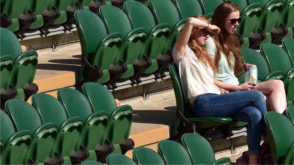 Spectators at Wimbledon