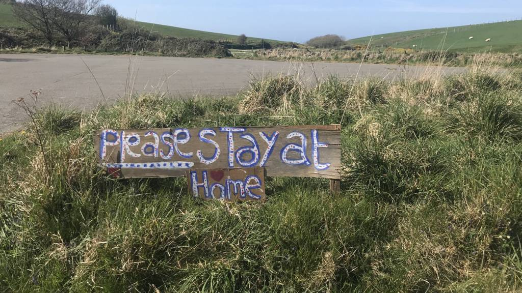 Please stay at home sign