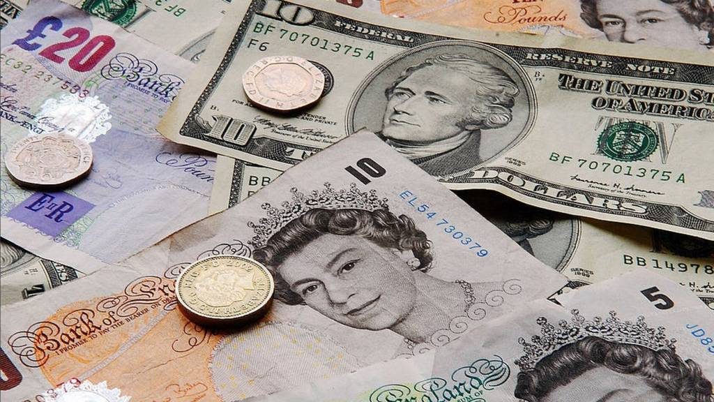 UK and US currency notes