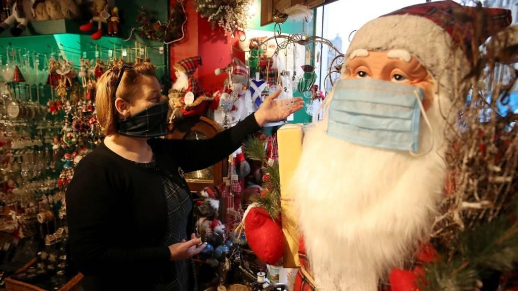 Santa in a mask