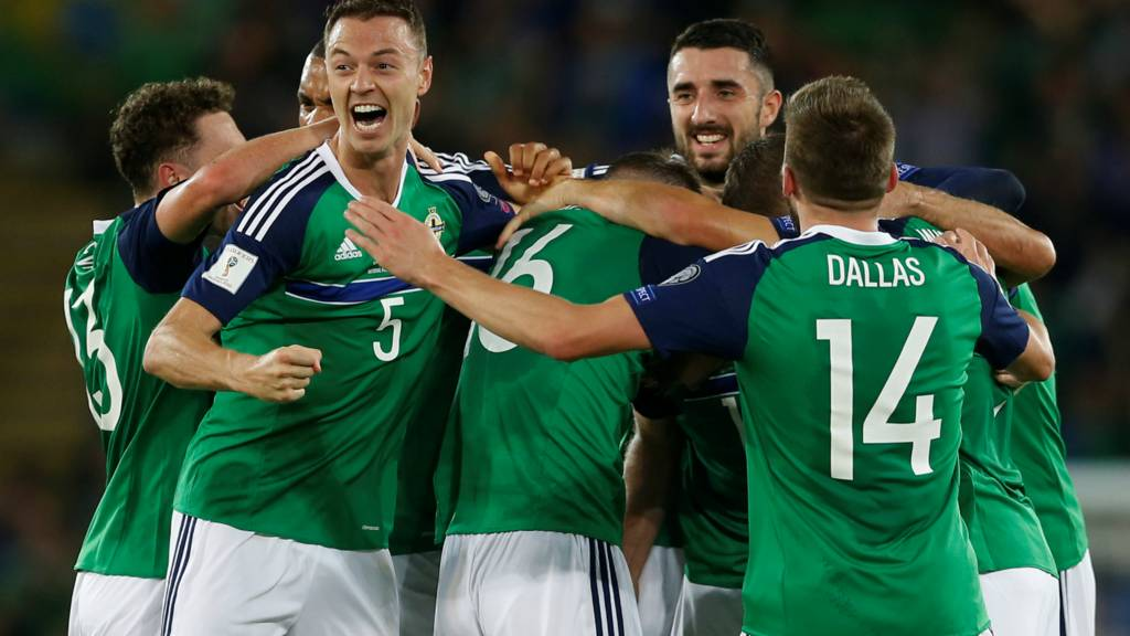 Northern Ireland celebrate scoring