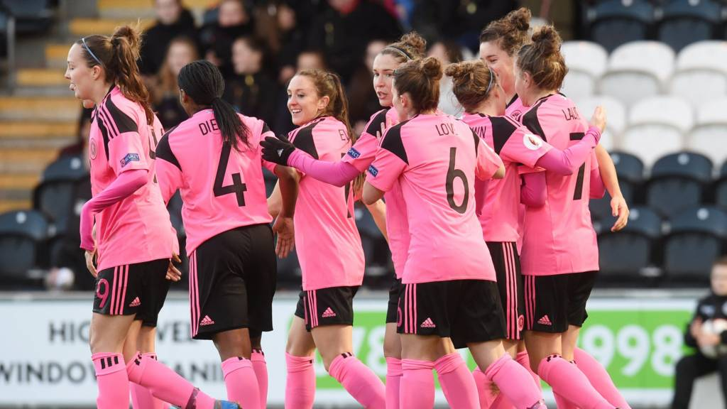 Scotland's women in Euro 2017 qualification action