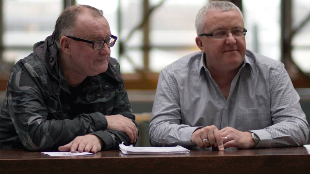 Stuart Cosgrove and Tam Cowan