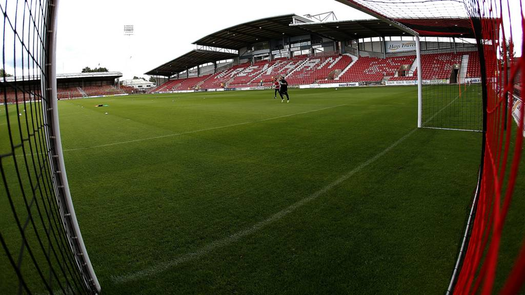 General view of Racecourse Ground
