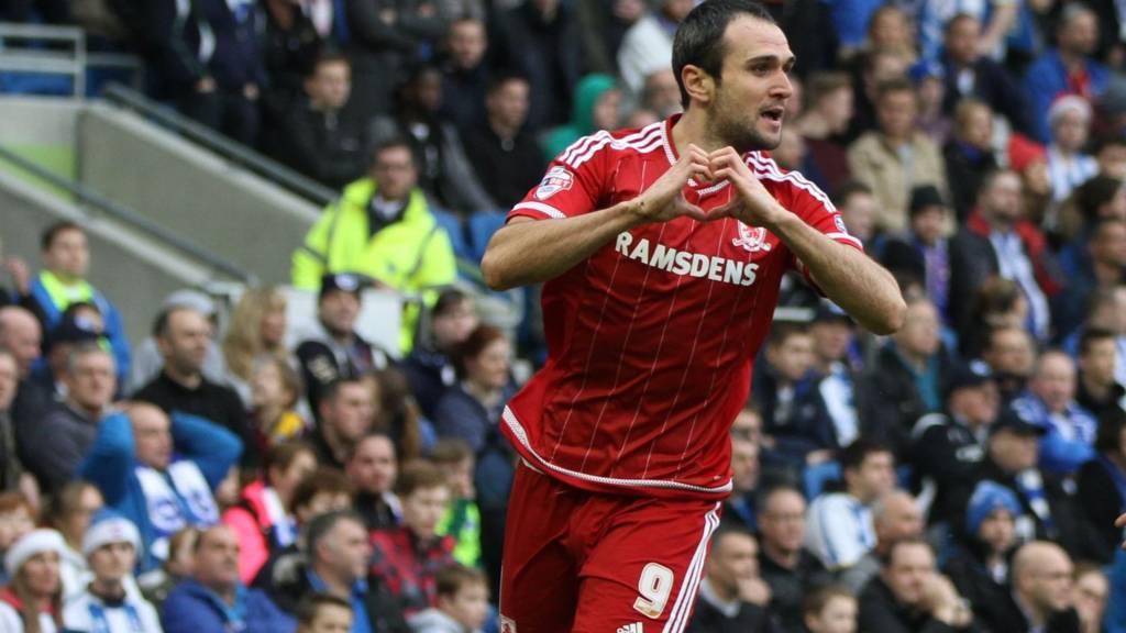 Middlesbrough striker Kike HERO