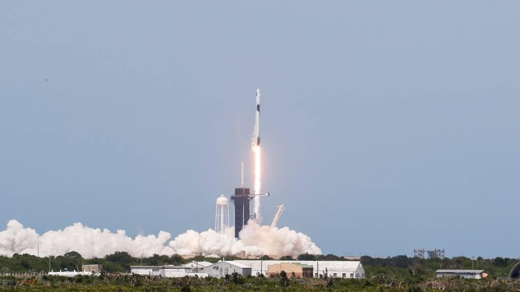 SpaceX Falcon9 rocket takes off