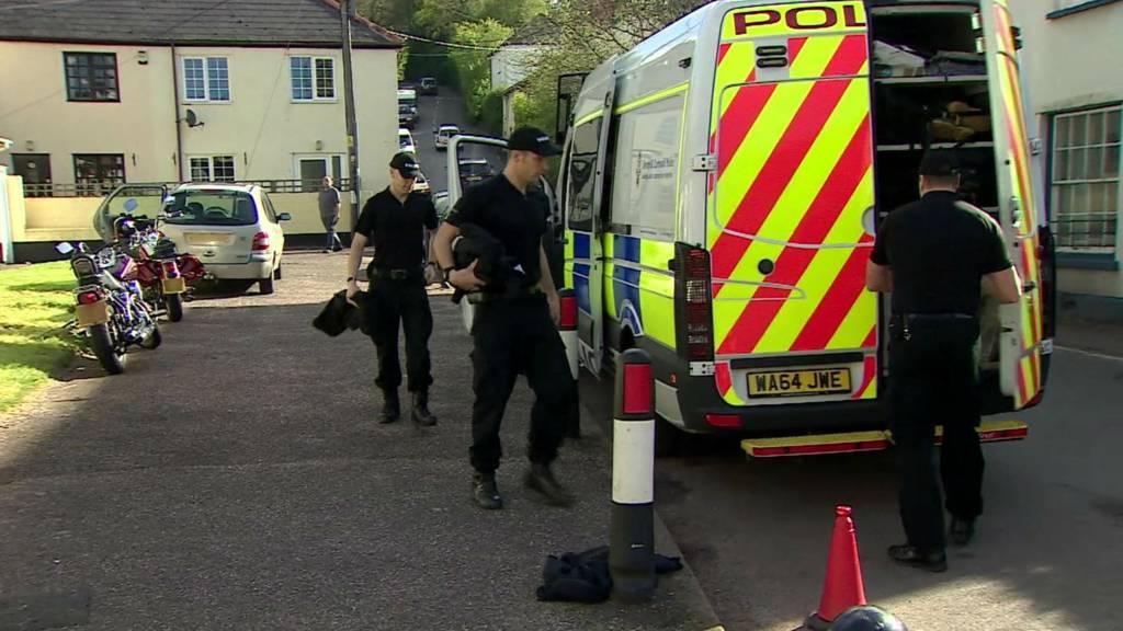 Police search at Bradninch