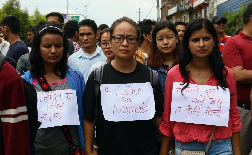محتجون على اغتصاب فتاة وقتلها في نيبال