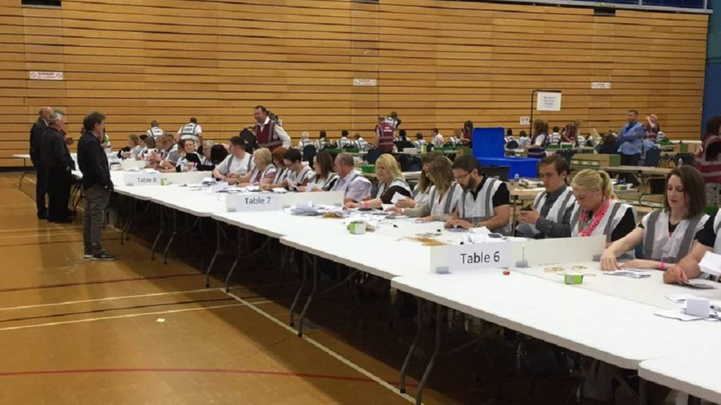 Votes being counted in Stoke-on-Trent