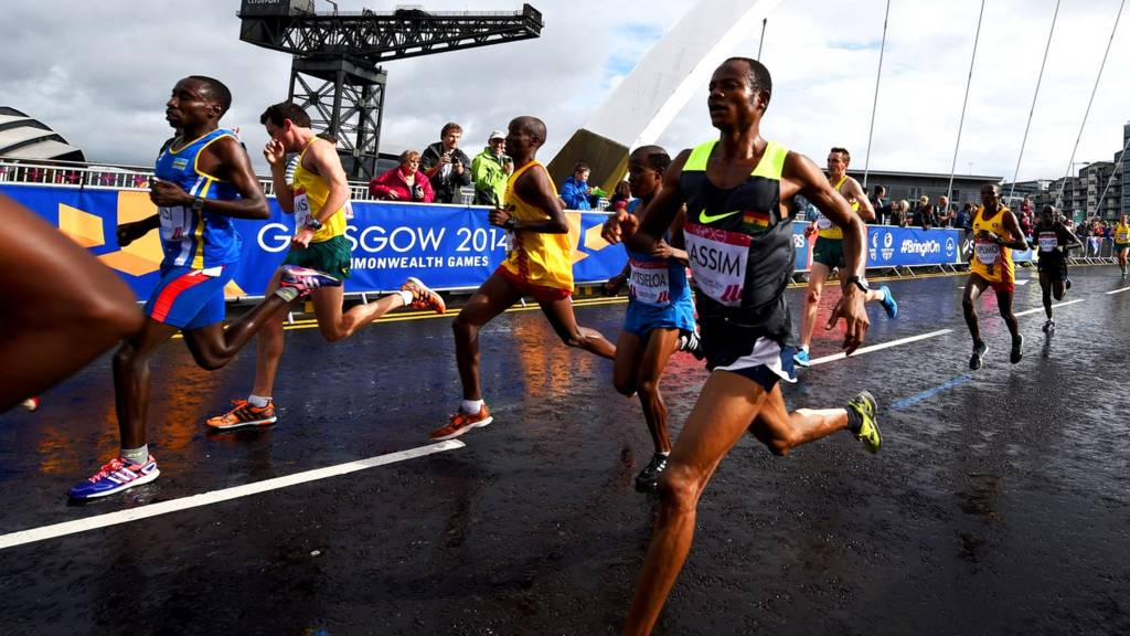 Runners compete during the 2014 Commonwealth games
