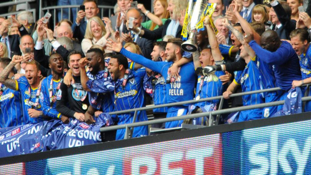 League two play off final afc wimbledon promoted to league one live bbc sport - Bbc football league 1 table ...