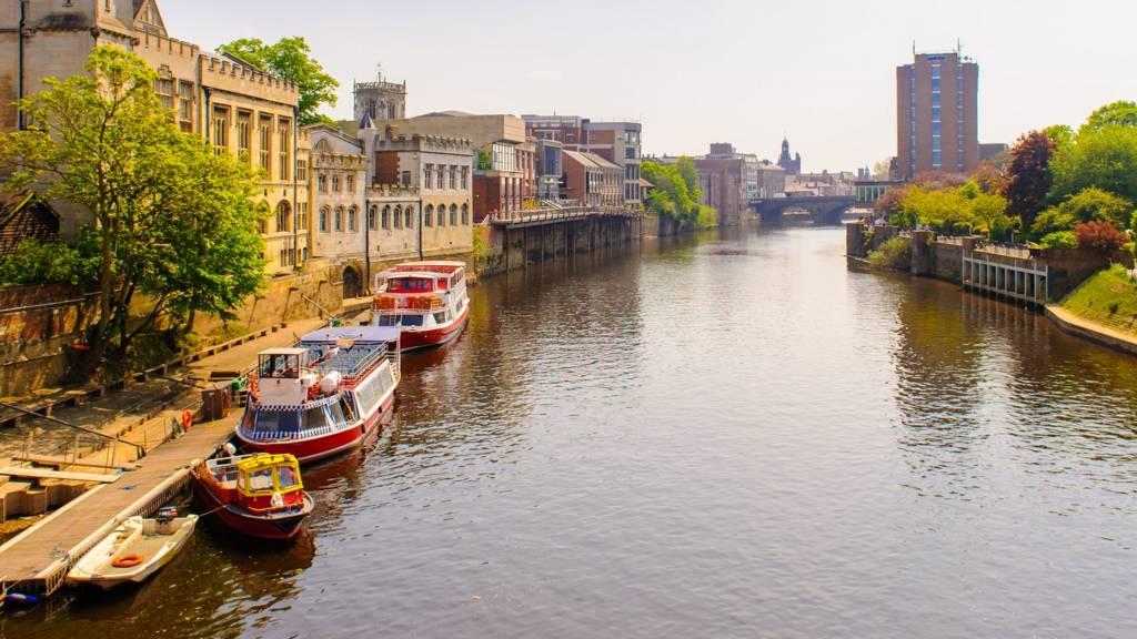 River in centre of York