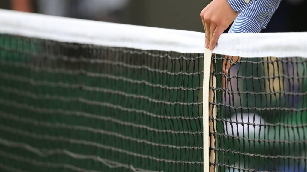 Wimbledon net is measured