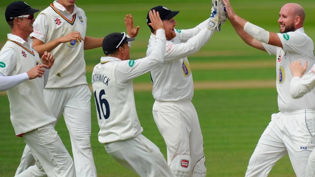 Durham celebrate wicket