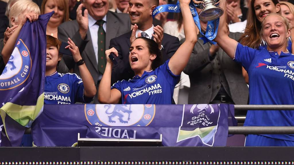 Chelsea lift the Women's FA Cup