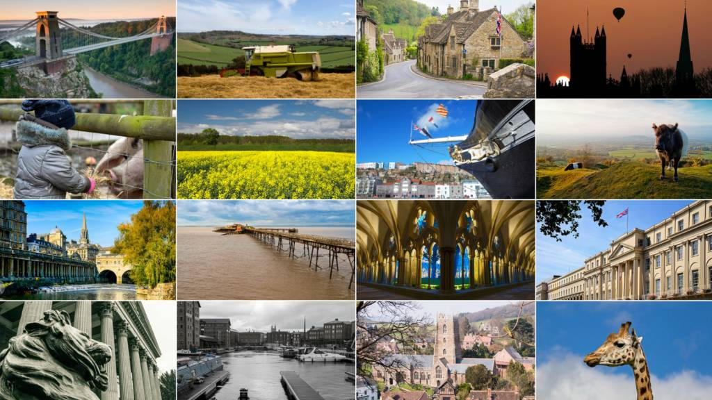 Montage picture of West Country landmarks