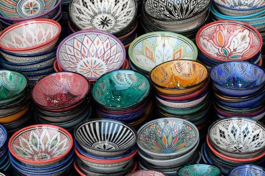 Pottery shop in Marrakesh, Morocco