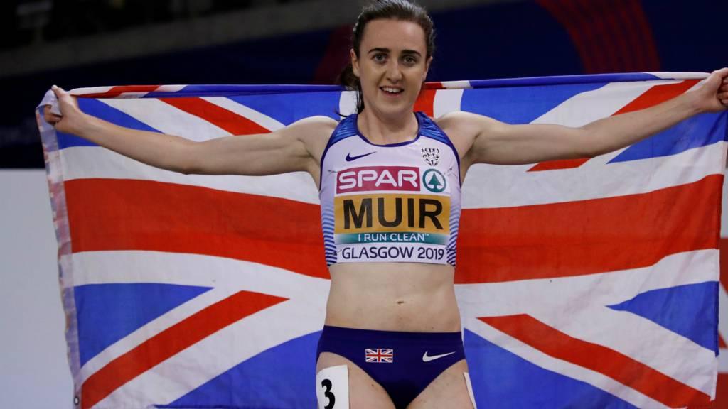 Laura Muir celebrates