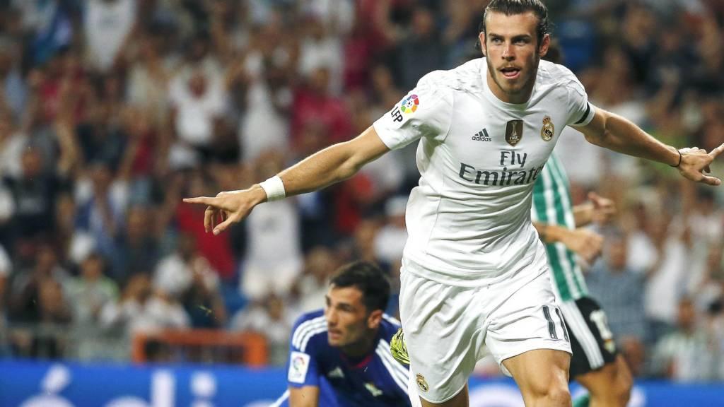 Gareth Bale celebrates