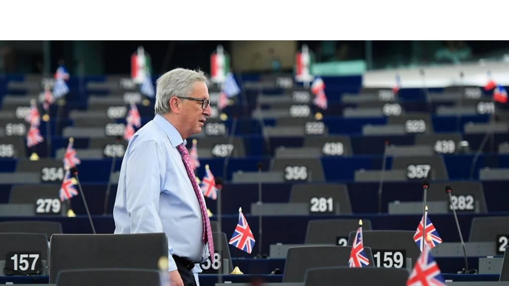 Jean-Claude Juncker at the European Parliament