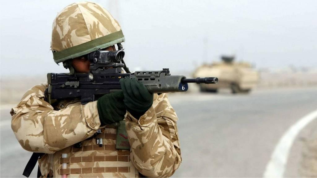 Британский солдат в Ираке