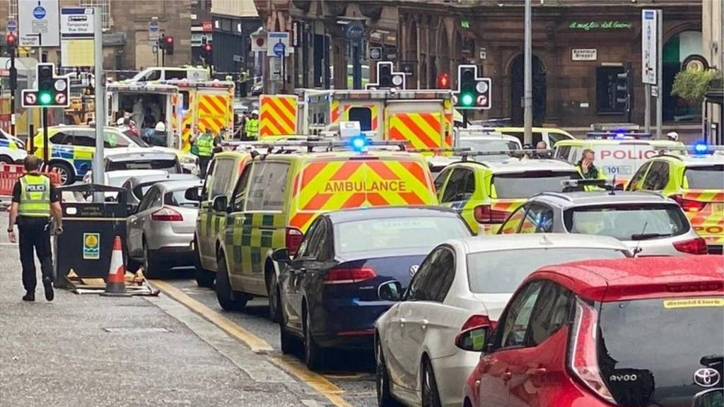 Police incident in Glasgow