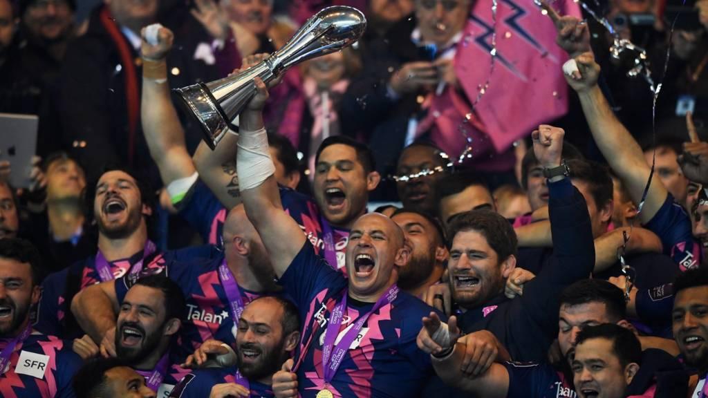 Stade Francais celebrate