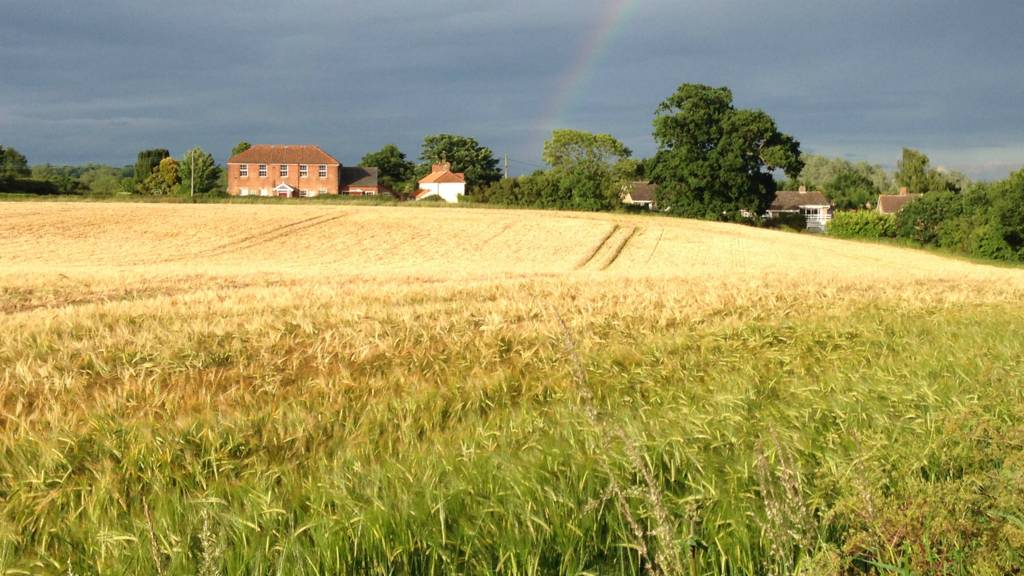 Rainbow over Grundisburgh