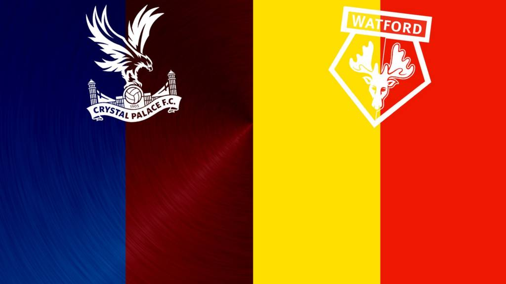 Crystal Palace v Watford badges