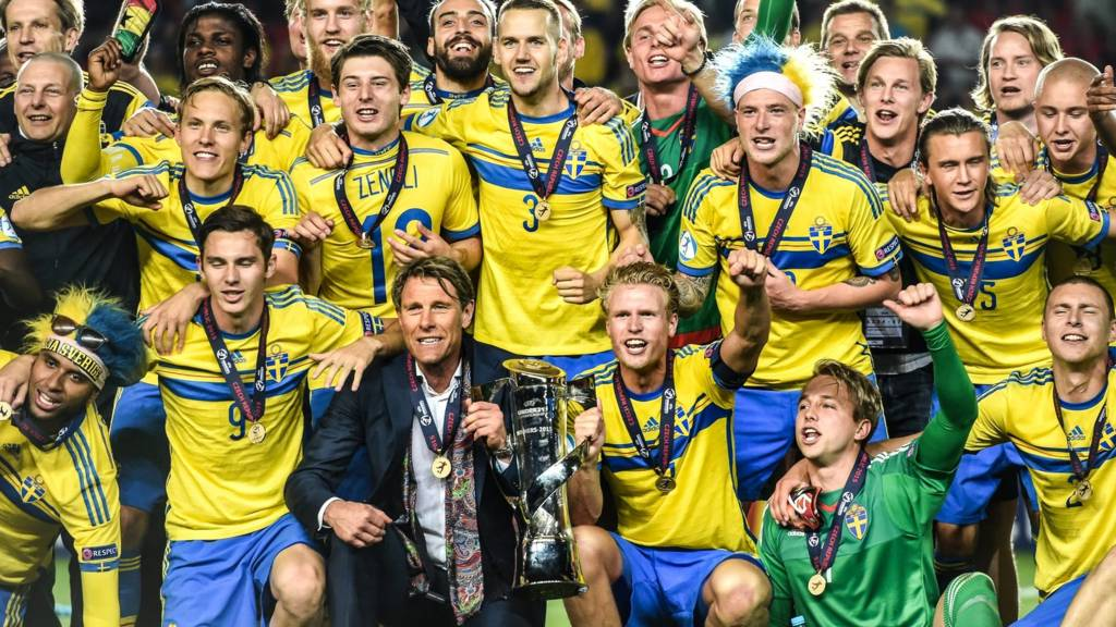 Sweden's players celebrate