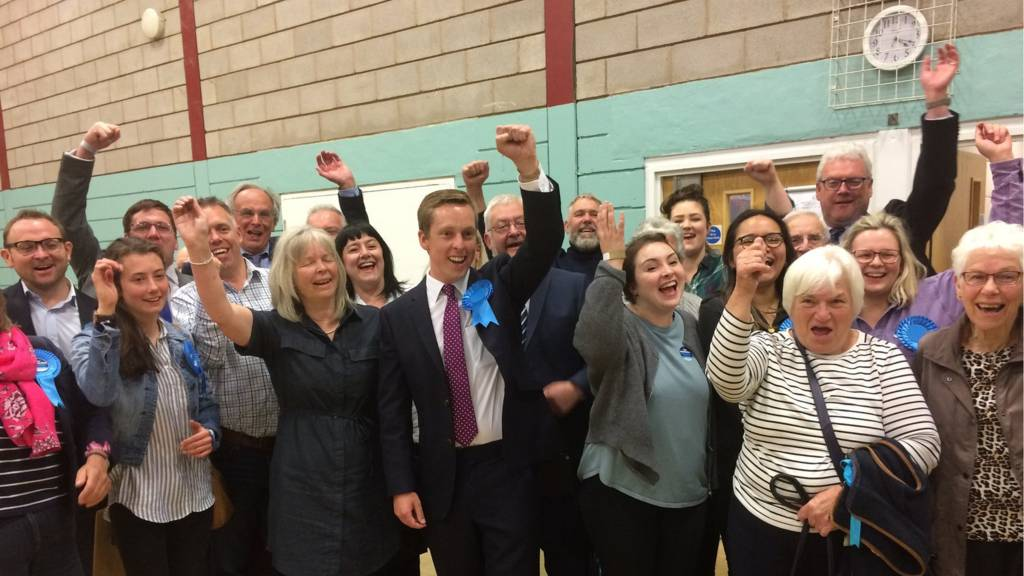 Tom Pursglove victory in Corby